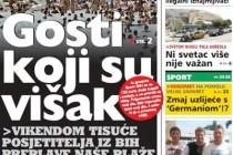 SRAMOTNO: HDZ podržava  sramotan tekst o turistima iz BiH
