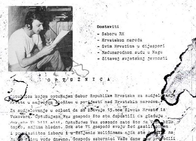 Siniša Glavašević 1991: Optužujem Sabor RH za zločin nad 15 tisuća Hrvata u Vukovaru