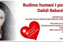 Pomozimo Dalidi Bebanić, učenici trećeg razreda Druge gimnazije Mostar