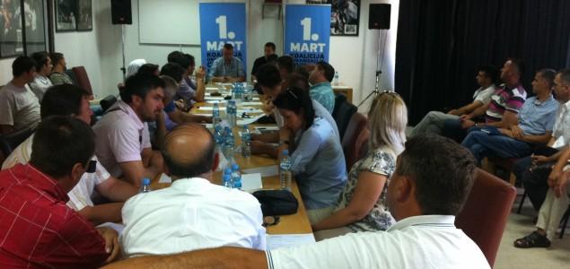 """Jasna poruka koalicije""""Prvi mart"""": Vraćanje Zakona o prebivalištu u redovnu proceduru ili bojkot Doma naroda"""