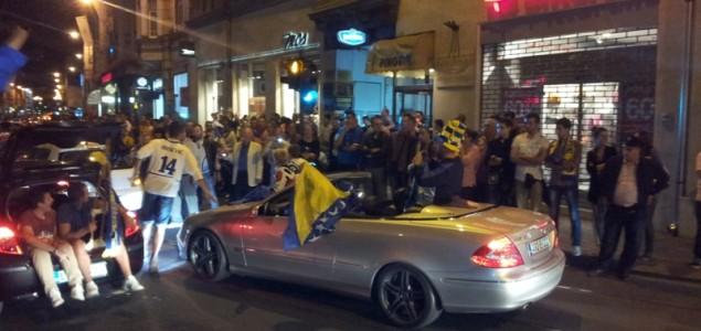 Pogledajte navijačko ludilo na ulicama Sarajeva