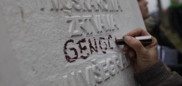 """Divljaštvo Dodikove vlasti: Uklonjena riječ """"genocid"""" sa spomenika na mezarju Stražište u Višegradu!"""
