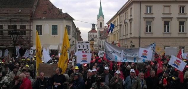 Prosvjed protiv Zakona o radu na Markovom trgu