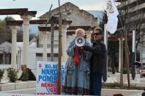 Svetla Broz i Gradimir Gojer na protestima u Mostaru