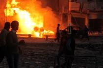 Halep ponovo u plamenu, tijela stradalih ostala u vatri i ruševinama