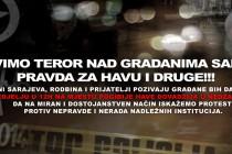 ZAUSTAVIMO TEROR NAD GRAĐANIMA BOSNE I HERCEGOVINE! PRAVDA ZA HAVU I DRUGE!