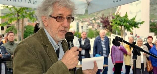 Esad Bajtal na prvomajskom prosvjedu u Mostaru: Potrebno je gandijevski istrajati!