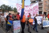 Novi protesti u Tuzli: Stotine radnika traži ispunjavanje februarskih zahtjeva