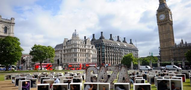 """London: """"Protest u kutijama"""" u znak podrške stanovnicima Gaze"""