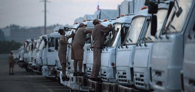 Kijev i SAD traže kontrolu ruskog humanitarnog konvoja na granici s Ukrajinom