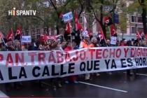 """Pogledajte video: Deseci tisuća Španjolaca traže bolje sutra uz slogan """"kruha, posla, krov nad glavom"""""""