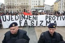 """Održan prosvjed """"Ujedinjeni protiv fašizma"""" u Zagrebu"""