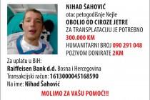 Nihad Šahović treba vašu pomoć, od sada i humanitarni broj