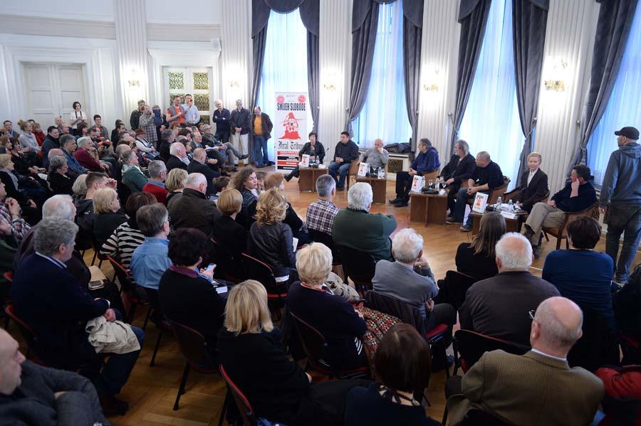 "Zagreb, 02.04.2015 - Predstavljanje drugog izdanja monografije ""Smijeh slobode – uvod u Feral Tribune"""