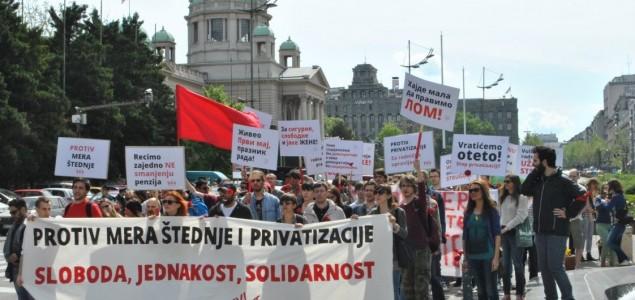 Levi samit Srbije zajedno sa sindikatima obeležio 1. maj u Beogradu