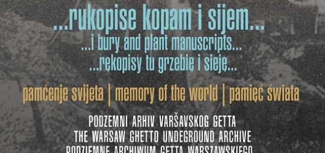 Podzemni arhiv Varšavskog geta – izložba