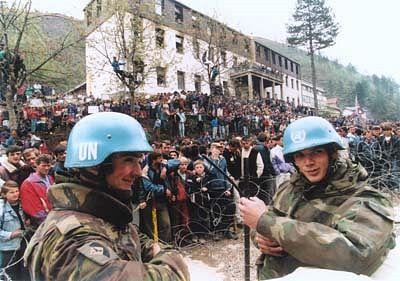 demonstratie Srebrenica