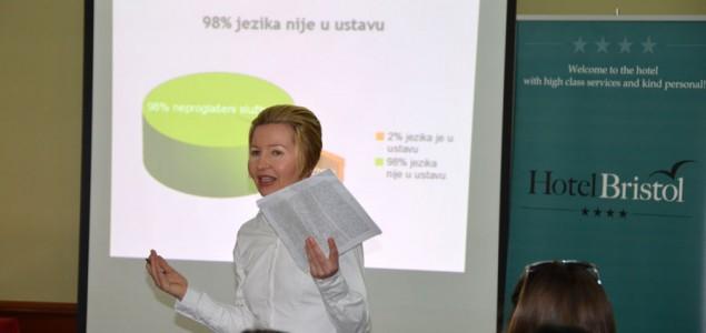 VIDEO: Predavanje lingvistice Snježane Kordić studentima u Mostaru