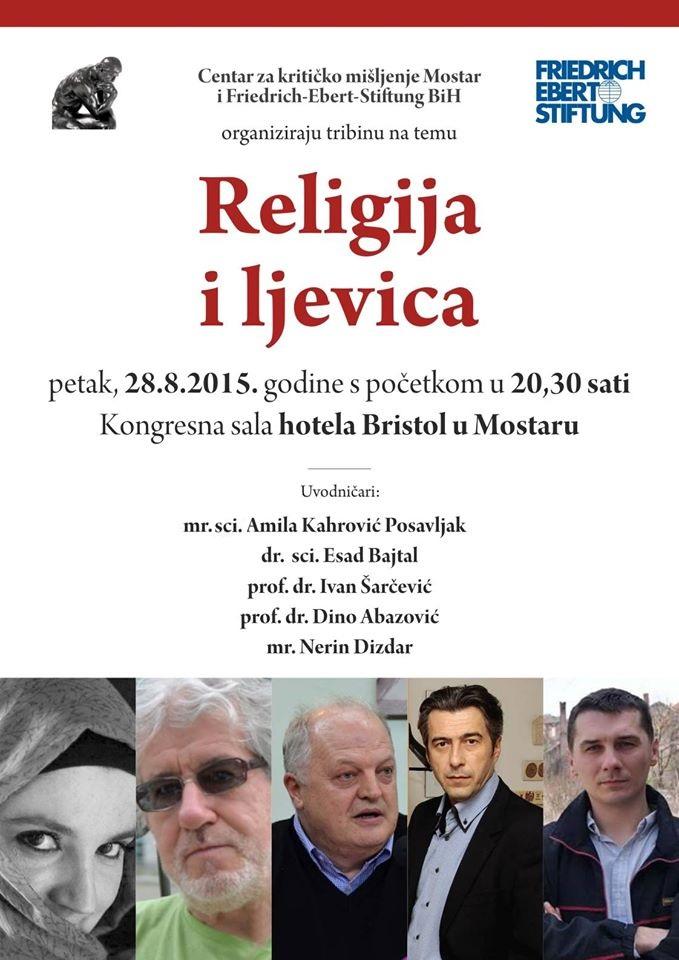 Plakat za tribinu 'Religija i ljevica'