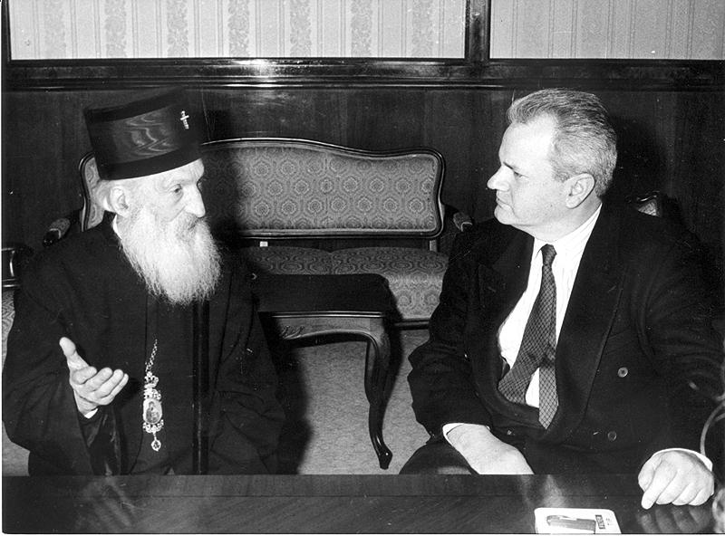 Patrijarh Pavle i Slobodan Milosevic. foto:Vladimir Dobricic