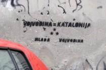"Pojavili se grafiti ""Vojvodina = Katalonija"" širom pokrajine"