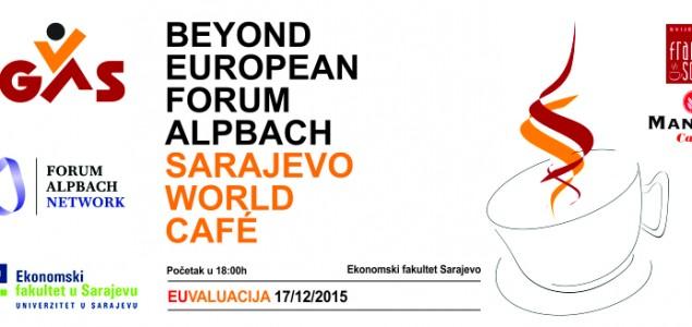 """Poziv za učešće na osmom Sarajevo World Café-u na temu """"EUvaluacija"""""""