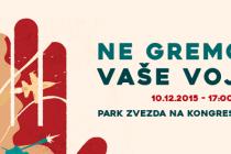 Protest za mir i drugačiju Evropu u Ljubljani