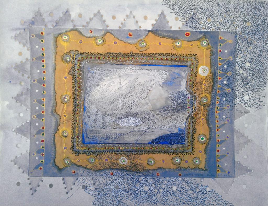 Jastuk- TAJNA, crtez komb.teh. 2015. 83x63cm