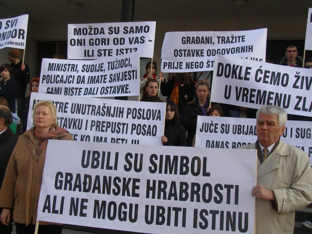demonstracije u Bijeljini 24.2.2007. - 1