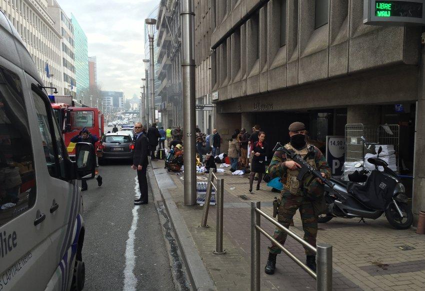 Brüssel / Explosionen / Innenstadt
