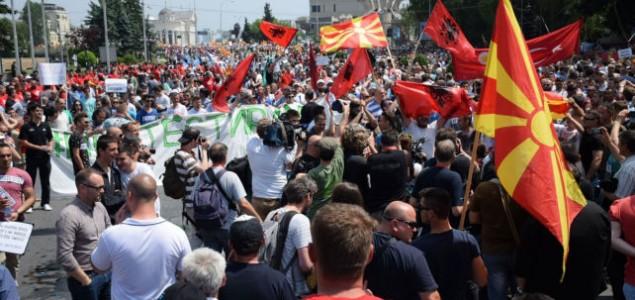 Protesti u Makedoniji završeni bez većih incidenata