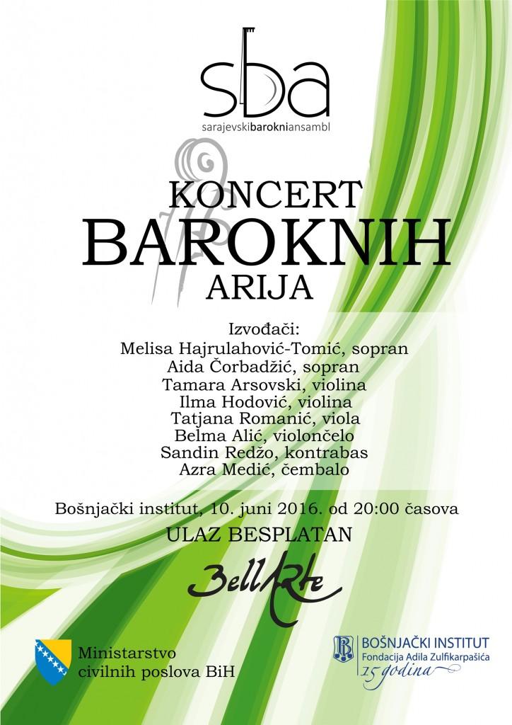 Sarajevki barokni ansambl-plakat