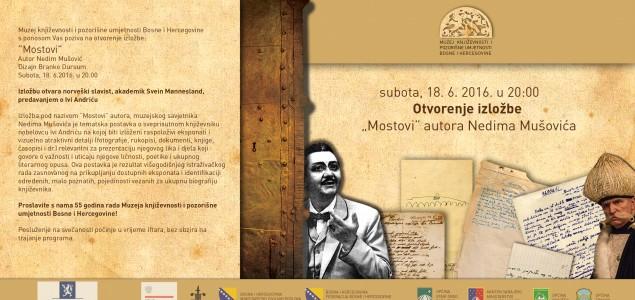 """Otvaranje izložbe """"Mostovi"""" Nedima Mušovića"""