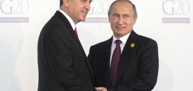 Moskva: Putin i Erdogan danas o Siriji