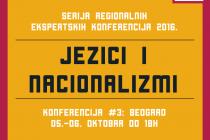 JEZICI I NACIONALIZMI / Beogradska konferencija 5. i 6. oktobra