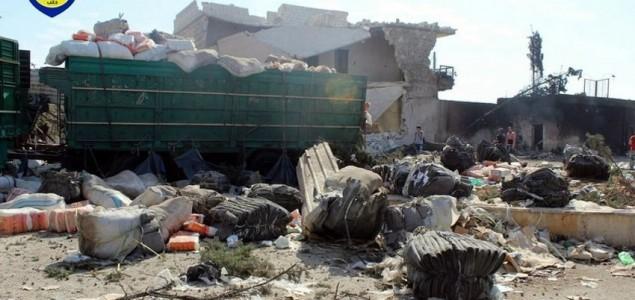 SAD optužile Rusiju za napad na konvoj humanitarne pomoći u blizini Alepa
