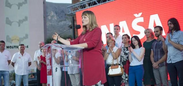Naša stranka otvorila kampanju na Španskom trgu u Mostaru