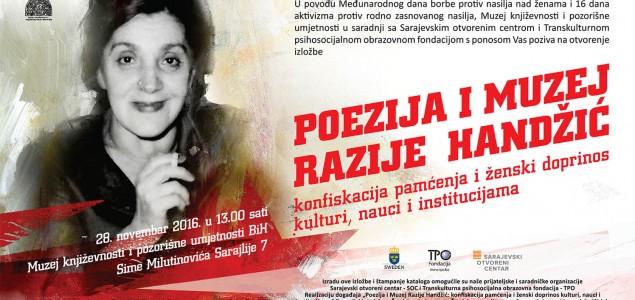 Izložba POEZIJA I MUZEJ RAZIJE HANDŽIĆ u okviru 16 dana aktivizma