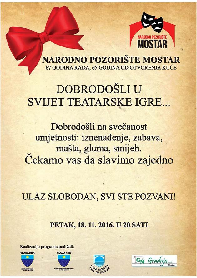 plakat za proslavu