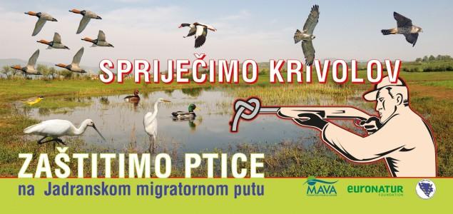 """Kampanja """"Spriječimo krivolov – Zaštitimo ptice na Jadranskom migratornom putu"""""""