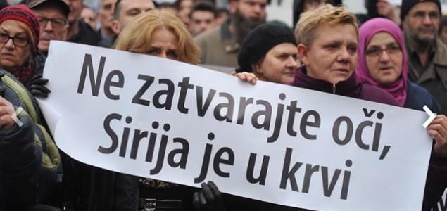 Građani Sarajeva digli glas protiv krvoprolića u Siriji: Spasite nedužne civile