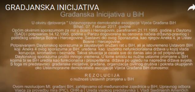 Građanska Rezolucija o Ustavnim promjenama kreće iz Bihaća, zgrade AVNOJ-a