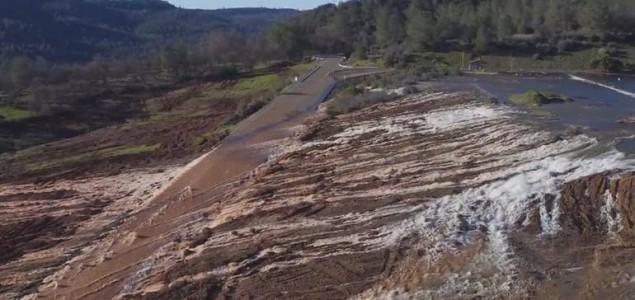 Najviša brana u SAD-u mogla bi popustiti; naređena evakuacija