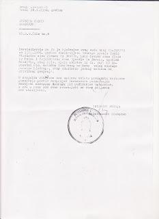 dopis o obustavljanju istrage
