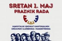 Čestitka povodom 1. maja, međunarodnog praznika rada