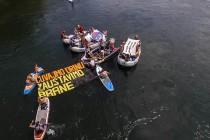 "Protest mladice na ""Drinskoj regati"""