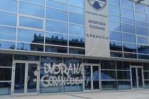 """Grafit """"Dvorana Goran Čengić"""" ispisan na ulazu u novu sportsku salu na Grbavici"""