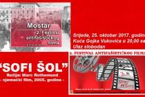 """""""SOFI ŠOL"""" treći dan Festivala antifašističkog filma"""
