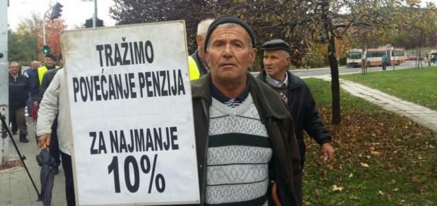 Protest penzionera u Sarajevu