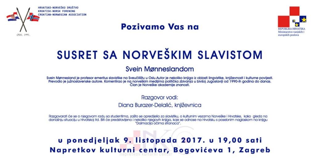 Pozivnica Svein Mønnesland 2-1
